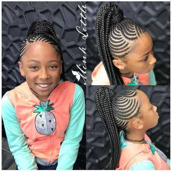 Beautiful Braids Kids2019 Lovely Tresse Africaine Enfant Noire Qu Est Ce Qu Une Tresse Une Tre Black Kids Hairstyles Hair Styles Kids Hairstyles Girls