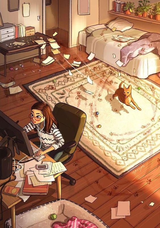 soyvirgo.com art by yaoyao aesthetic room art bedroom