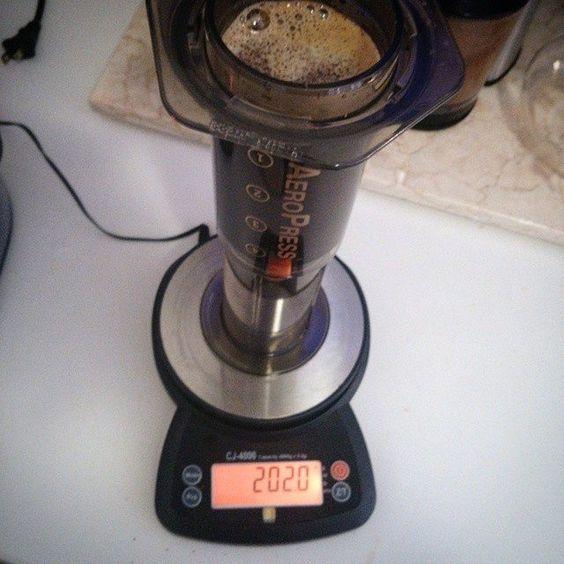 Today's work coffee comes via an Aeropress#coffee #aeropress #craftcoffee #caffeine #work #productivity