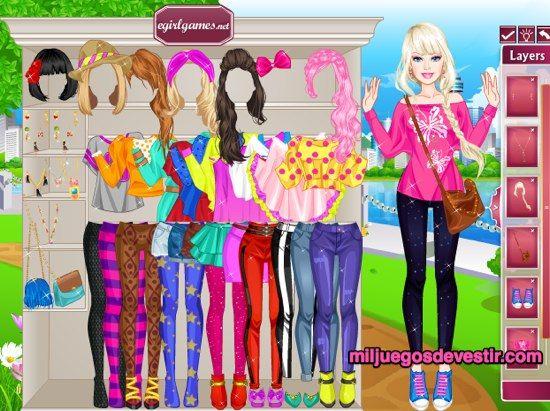 Juegos Gratis De Barbie Para Vestir Y Maquillar Peinar A La Moda Barbie Para Vestir Juegos De Vestir Chicas Juegos De Barbie