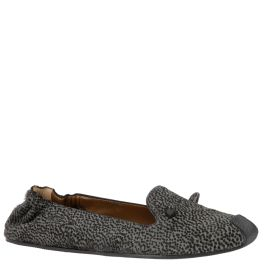 Agnona ballerinas with 'horns', black and grey calf hair with animal print, from autumn winter 2014. www.wunderl.com