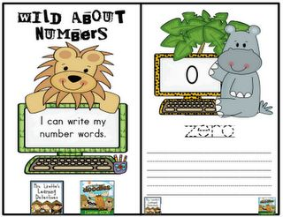 Wild About Number Words- FREE