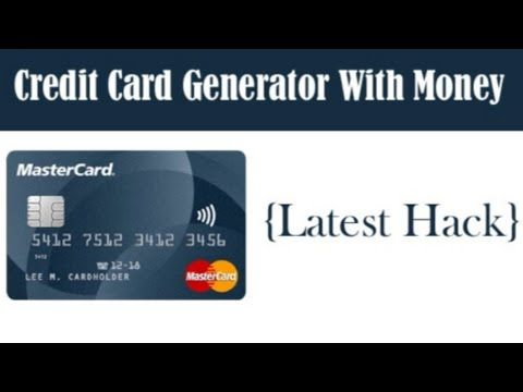 Credit Card Generator With Money