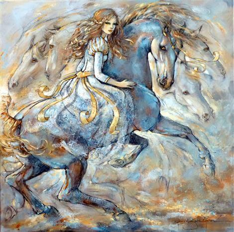 , horse paintings - Jeanne Saint Chéron