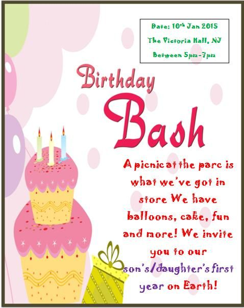10 best Printable 1st Birthday Invitation Templates images on - birthday card template