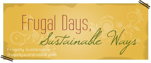 Frugal living, while sustainable living