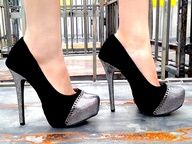 These #metallic mesh #platforms will have you lookin' like a girly bad-ass in no time!  #gojane
