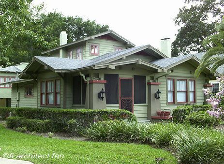 I'm probably too much of a nomad to ever settle down in one place for good, but if I did it would be in a Craftsman house like this one...