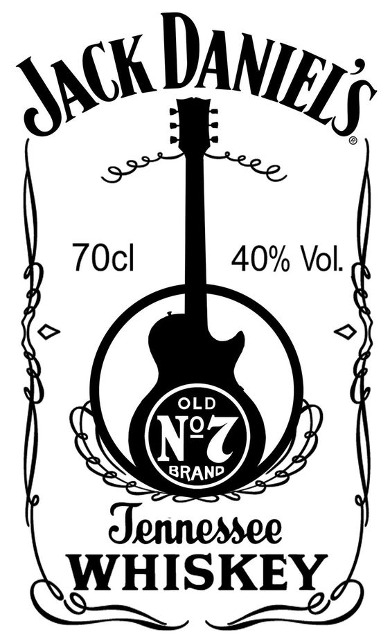 Jack daniels logos and guitare on pinterest for Pochoir jack daniels