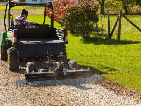 Atv Driveway Graders Gravel Rascal Abi Attachments In 2020 Compact Tractors Atv Sub Compact Tractors