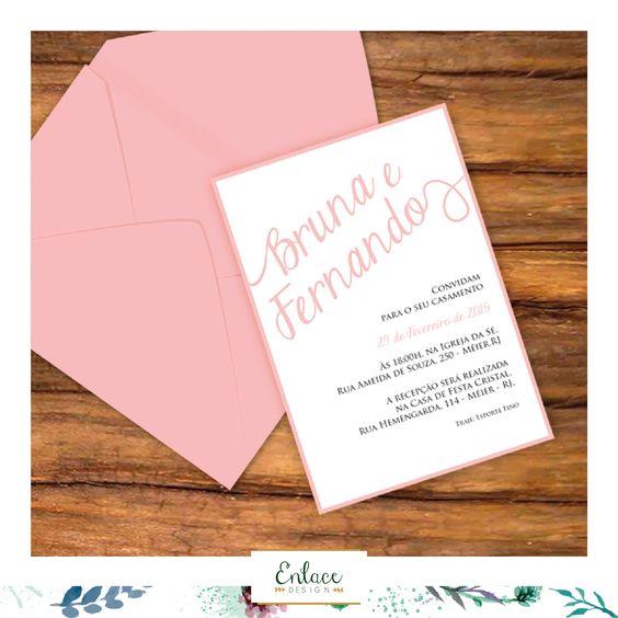 Convite de casamento clean. #wedding #invitation #convite #casamento #ideia