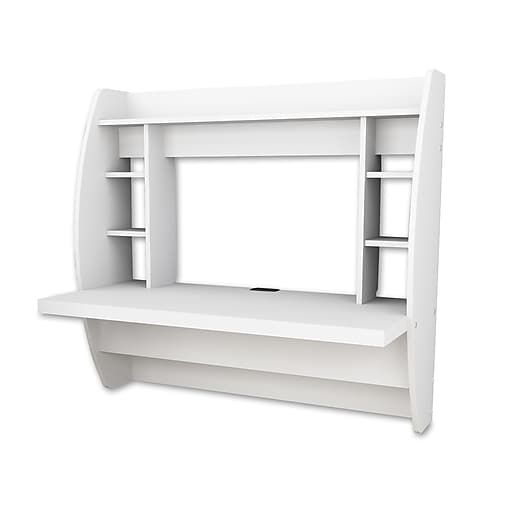 Prepac Wall Mounted Floating Desk With Storage White Wehw 0200 1 Floating Desk Desk Storage Prepac