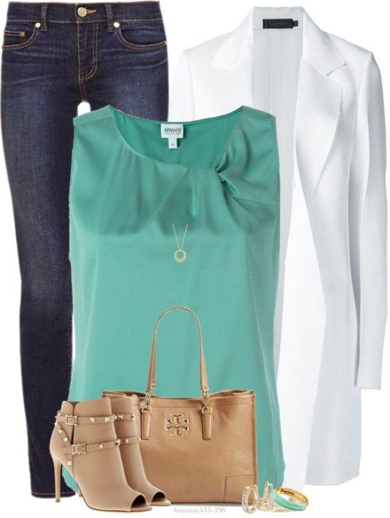 White Long Coat Classy Outfit Idea