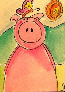 Jeannette Carlstrom....pig
