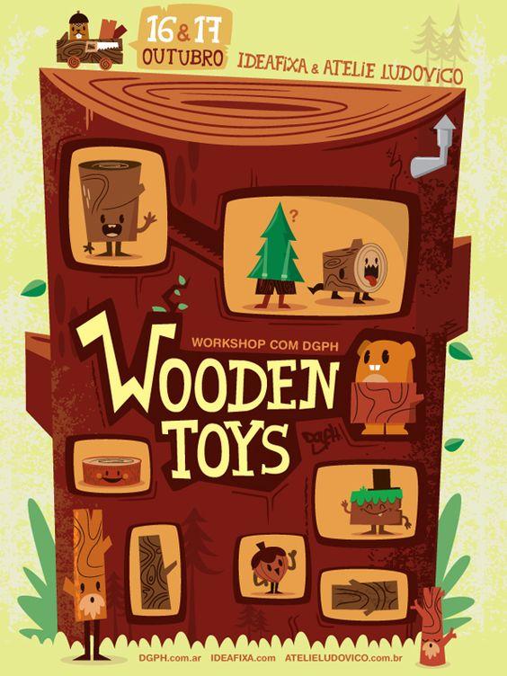 Ideafixa & Ateliê Ludovico: Wooden Toys com DGPH - IdeaFixa