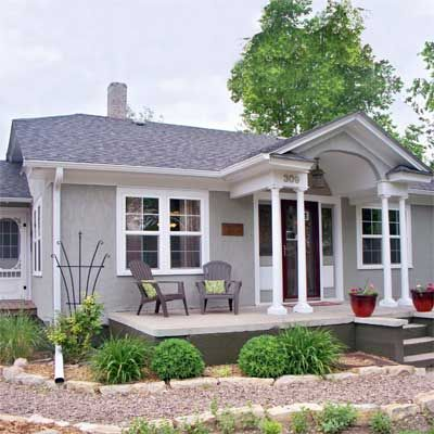 Best Curb Appeal Before And Afters 2012 Stucco Exterior Grey And House