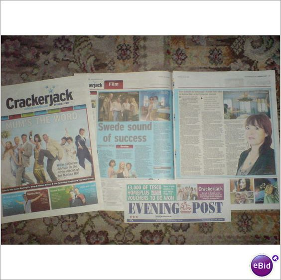 ABBA Mamma Mia! Magazine Crackerjack Mums The Word. Catherine Johnson
