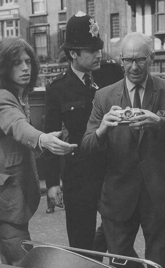 "voodoolounge: ""Mick Jagger and Marianne Faithfull (not pictured here) at Marlborough Street magistrates to answer charges relating to a drugs raid at their Chelsea home, 29th May 1969. """