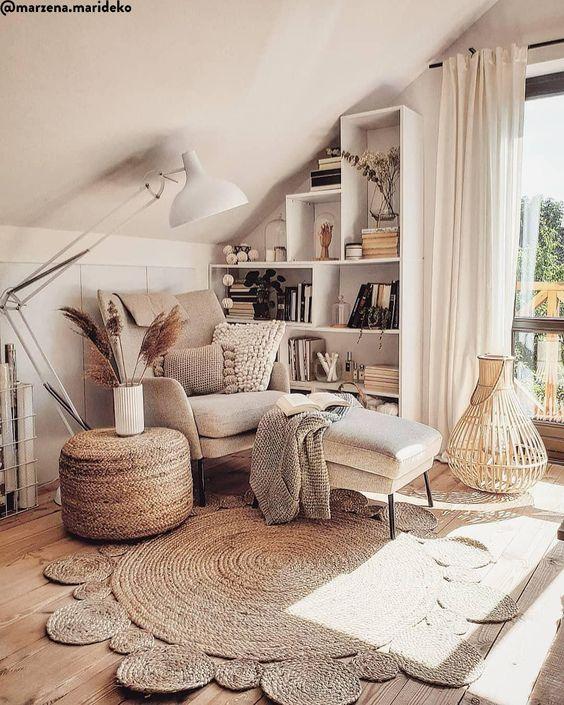 COZY COUNTRY! Das Zuhause von Bloggerin @marzena.marideko aus Warschau ist vor alleim eines: Gemütlich! Wir haben für Dich den Look der hübschen Polin bei WestwingNow zusammengestellt. Lass Dich inspirieren! 📷: @marzena.marideko // Wohnzimmer Sessel Teppich Jute Ideen Skandinavisch Boho