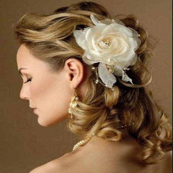 Peinados boda media melena (35 fotos) - Sobre El Cabello