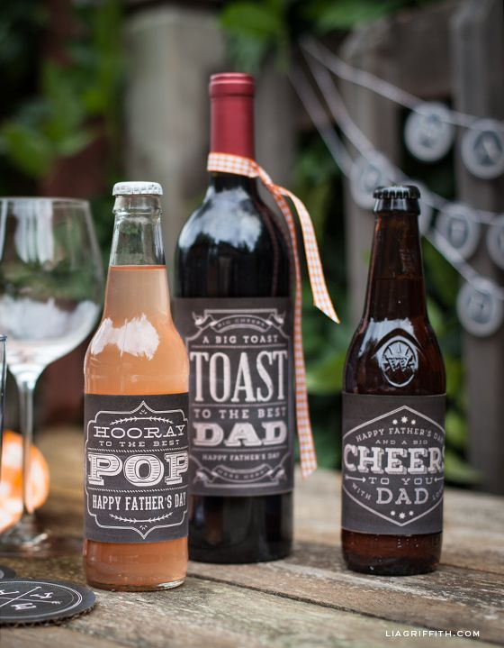 father's day wine labels