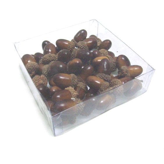 Sage & Co Acorn Ornaments In PVC Box