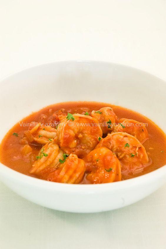Camarones en salsa de tomates y especias: una idea para tu ...