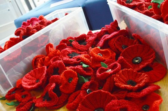 The Big Poppy Knit - can you knit or crochet poppies to donate? Every little helps! Patterns for both included in the link.
