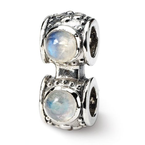 Sterling Reflections Moonstone Connector Bead