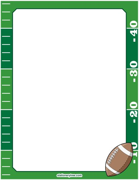 Printable football stationery and writing paper. Free PDF ...