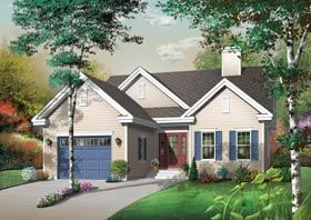 Elevation of Traditional   House Plan 65465