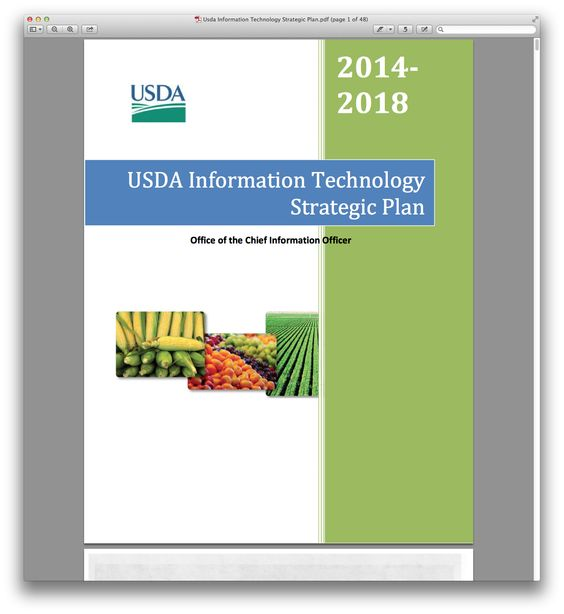 Usda Information Technology Strategic Planpdfpng (1341×1460 - strategic plan