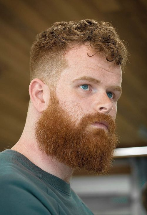 Pin By D R On Hair Mens Hairstyles Red Hair Men Curly Beard