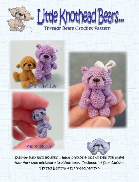 Thread Bears PDF crochet pattern AMiGuRuMi BeaR 11 door PRiMiTeDS, $12.00