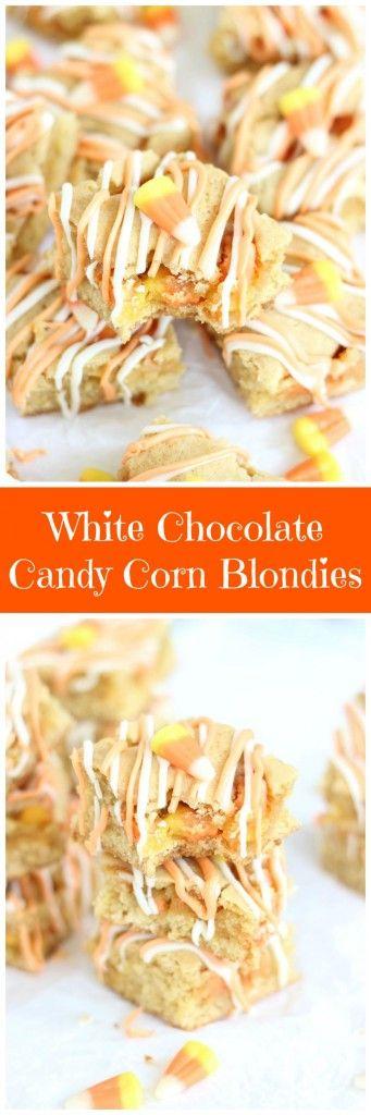 ... white chocolate blondies white chocolate candy corn candy chocolate