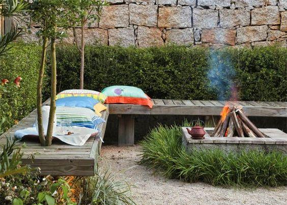 Fábrica de Idéias - Tudo em Paisagismo e Decoração: Cantinhos de lazer no jardim