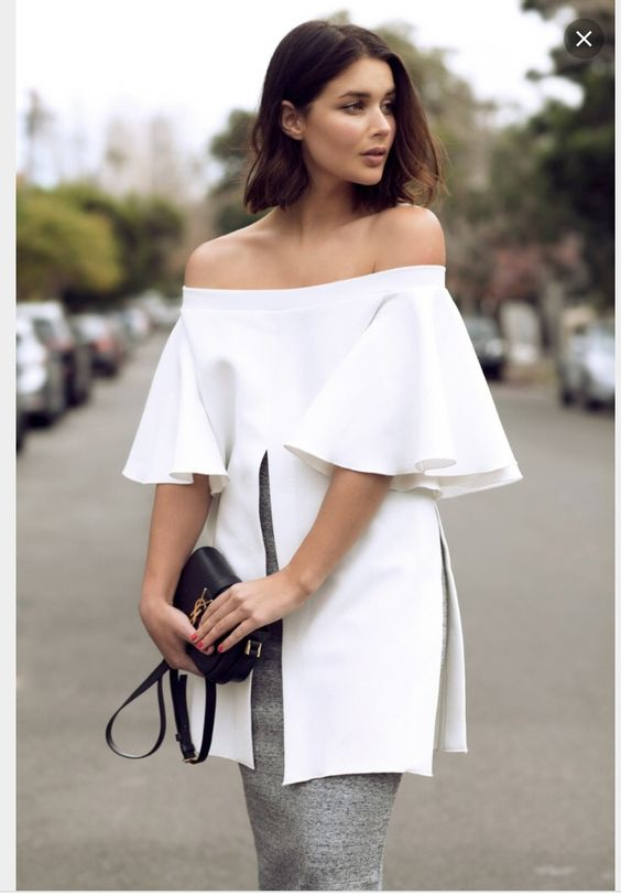 Couture off the shoulder