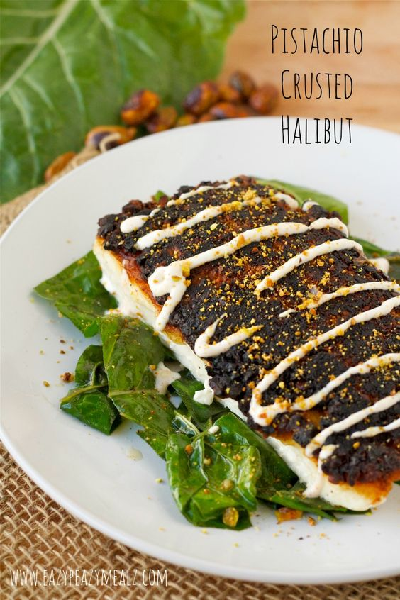 Pistachio Crusted Halibut: You just need 20 minutes to get this healthy, flavorful, fish on the table. It is my favorite way to cook halibut! - Eazy Peazy Mealz