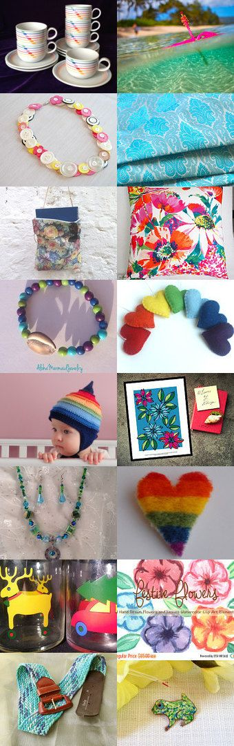 Bright and Colourful by Rhian on Etsy--Pinned with TreasuryPin.com