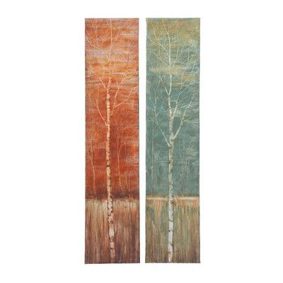 Woodland Imports Contemporary Styled 2 Piece Painting Print on Canvas Set