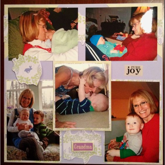 Grandma and grandson: Layout Ideas, Scrapbook Layouts, Photo Ideas, Scrapbooking Ideas, Craft Ideas, Paper Crafts