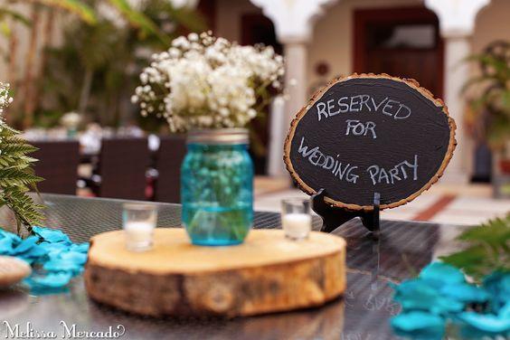 beautiful DIY mason jar centerpieces, destination wedding in Playa del Carment, melissa-mercado.com