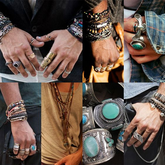 men's bohemian style accessories