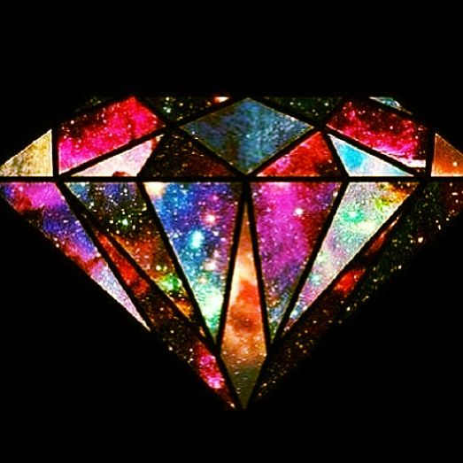 Outer Space Diamond: Galaxies And Diamonds On Pinterest