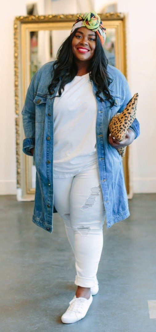 Denim Outfit Idea For Plus Size Womens The Best Of Casual Outfits In 2017