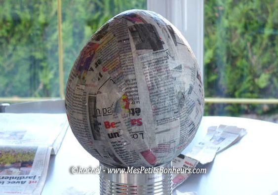 Oeuf de Pâques déco en papier mâché – Bricolage pour petits et ...