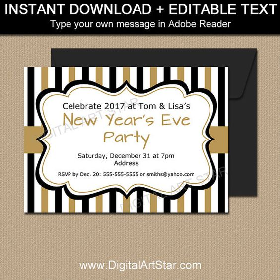 New Years Invitation Template New Years Eve Party – New Year Invitation Template