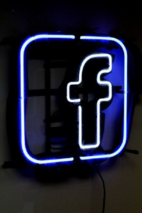 Brand New Facebook Logo Neon Light Sign 16 X 16 High Quality From Neonlightstore Wallpaper Iphone Neon Neon Light Signs Neon Lighting
