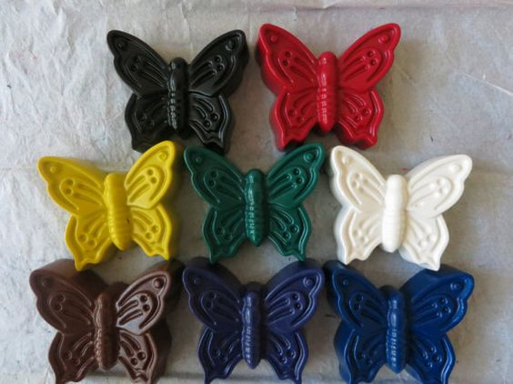 Giant Butterfly Crayon Set of 10 by ChalkScene on Etsy #blackfriday #crayons