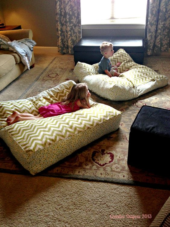 Floor pillows. Maybe this will save my couch cushions from three rowdy boys! Similar tutorial ...
